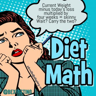 Giving Up Dieting Math